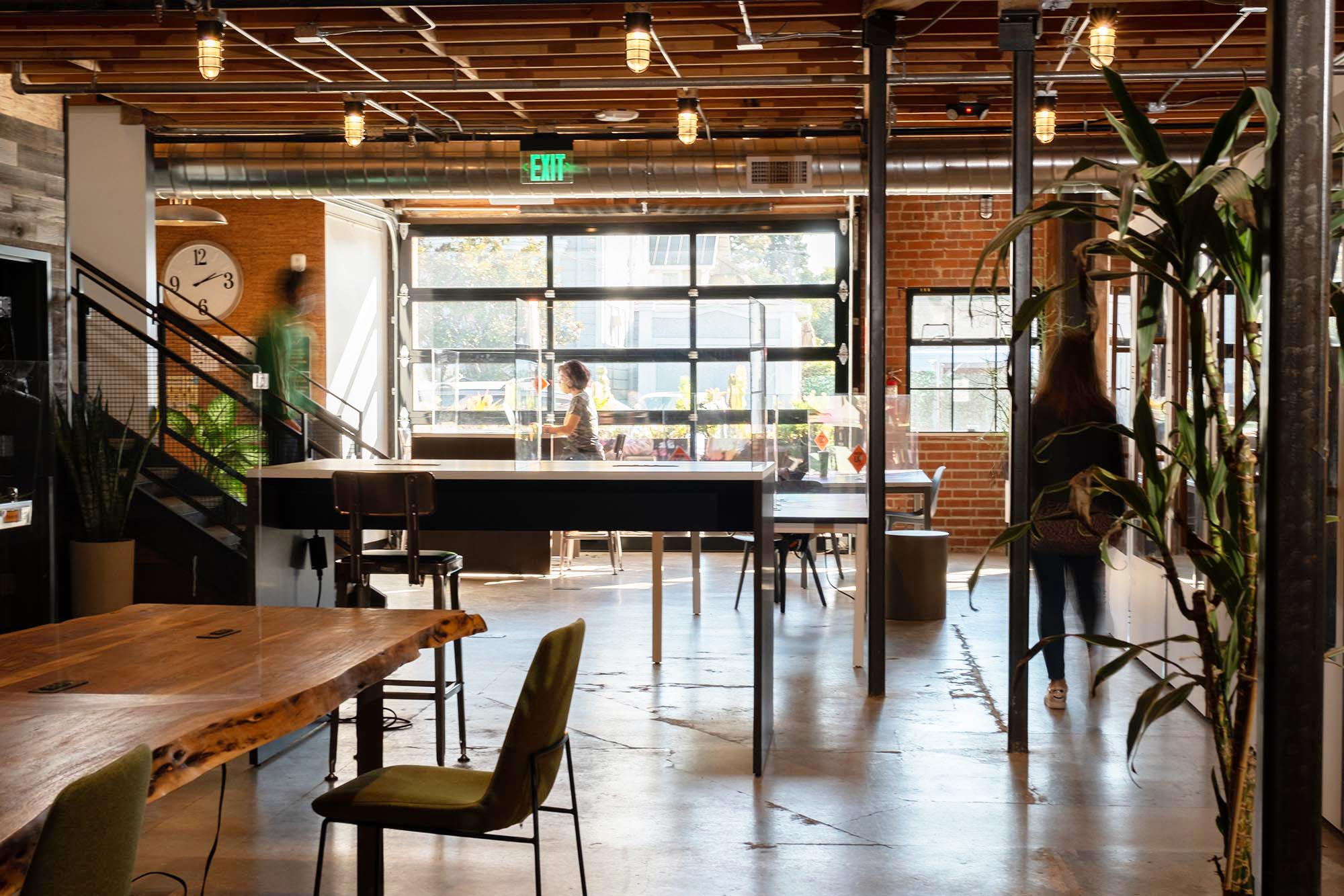 Drop-in coworking area