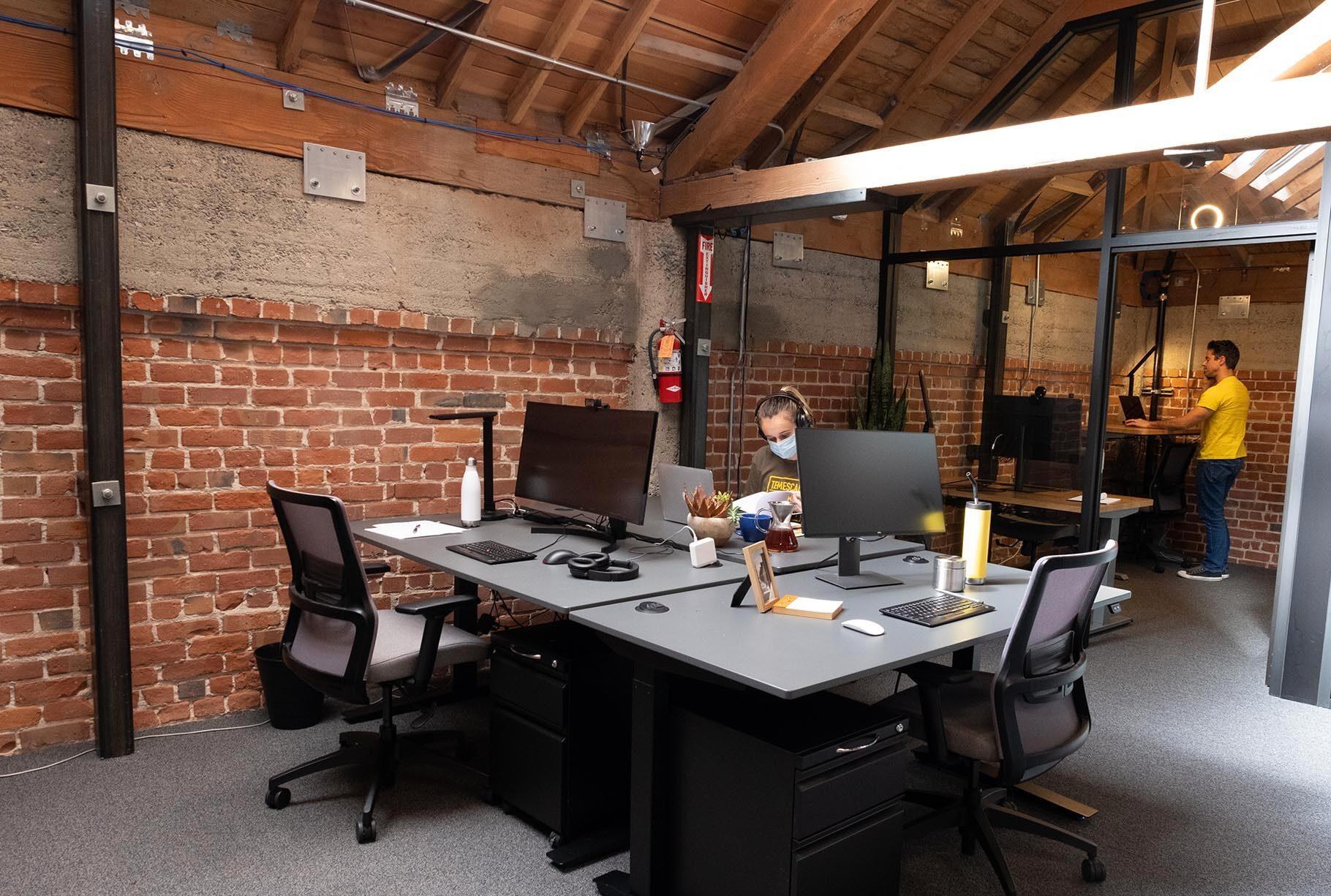 Team space near windows